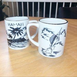 Vintage made in Japan Hawaii mugs (2)